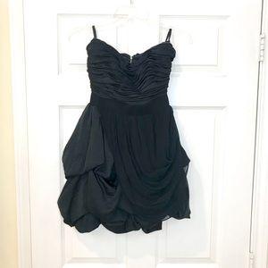 BEBE Draped Chiffon Dress!